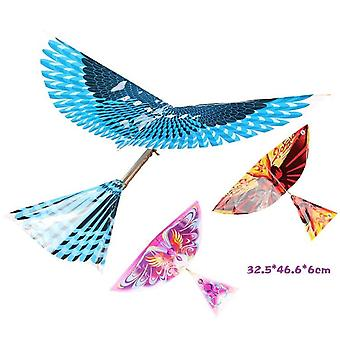 Rubber Band Power Bird Models Toy Children's Puzzle New Diy Kite - Bionic Air Plane Action Assembly Gift Parent-child Interaction