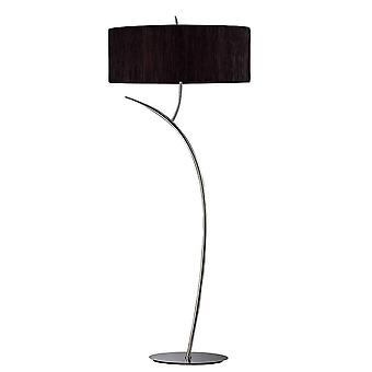 Inspired Mantra - Eve - Floor Lamp 2 Light E27, Anthracite with Black Oval Shade