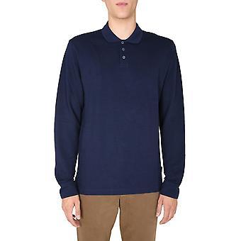 Z Zegna Vv376zz617b08 Men'camisa polo de algodão azul