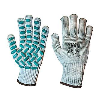 Scan trillingsbestendige Latex Foam Handschoenen - Extra groot (maat 10)