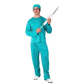Orion kostuums mens Doctor ziekenhuis Blue Scrubs chirurg fancy dress kostuum