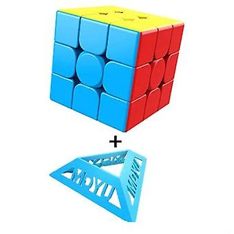 Magic Stickerless Cube Puzzle - Professional Speed Cube For Students