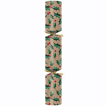 "Swantex Kraft Holly Eco Christmas Crackers 11"""