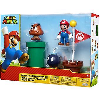 Nintendo Acorn Plains 2.5 pulgadas Diorama regalo Set niños juguete