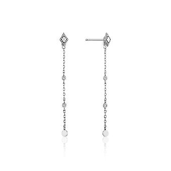 Ania Haie Sterling Silver Rhodium Plated Bohemia Drop Earrings E016-05H