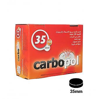 Caixa de carvão carbopol 35mm de 100