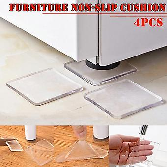 4 Pcs Kitchen Sticker Clear Sticky Washingy Lavatrice Frigorifero Sedia Anti-slip Pad (trasparente)