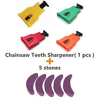 Teeth Sharpener Portable Sharpen, Chain Saw, Bar-mount Fast Grinding,