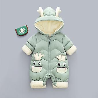 Baby Winter Schneeanzug Plus samt dick boy Jumpsuit, 0-3 Yrs Neugeborenen Strampler