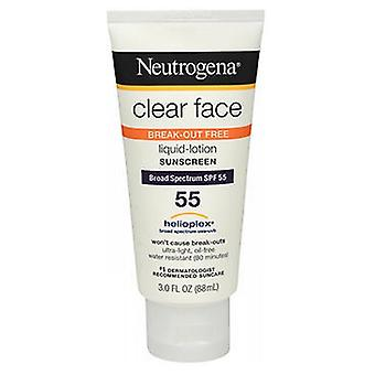 Neutrogena Clear Face Liquid-Lotion SPF 55, 3 oz