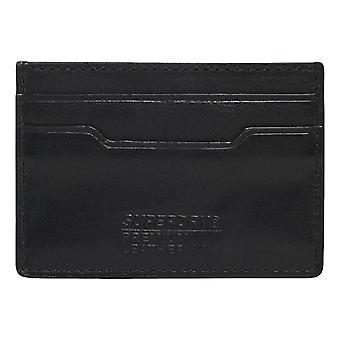 Superdry Leather Card Holder - Black