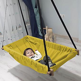 Hanging Baby Wooden Porch Swing Hammock Cradle For Indoor & Outdoor