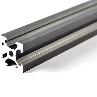 400mm musta alumiini V-ekstrusio 2020