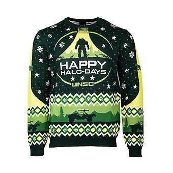 Offizielle Halo 'Happy Halo-Days' Weihnachtspullover / hässlicher Pullover