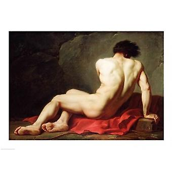 Patrocles Poster Print by Jacques-Louis David