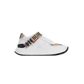 Burberry 8025543a7026 Damen's Weißes Leder Sneakers