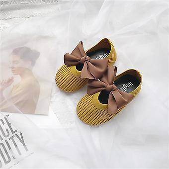 Children's Spring Autumn Fly Woven Shoe Bowknot Princess Skor andas