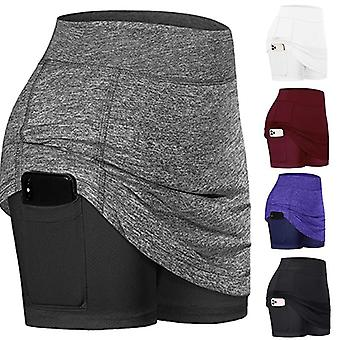 Active Quick Dry Athletic Lightweight Skirt With Pockets Shorts Inner Running
