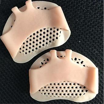 سيليكون لينة منصات كعب الأحذية زلة مقاومة حماية تخفيف الألم رعاية القدم نصف