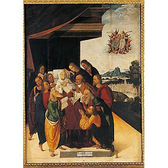 La morte della Vergine Poster stampa