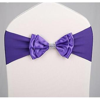 Satin Chair Sash-bow Tie Design For Wedding, Hotel Party Decoration