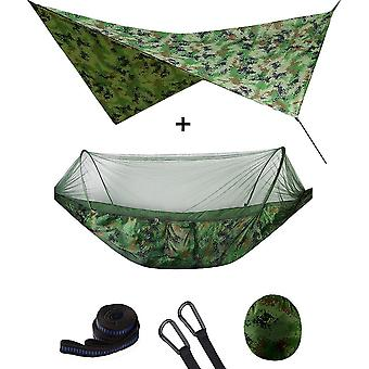Mosquito Net Hammock Tent With Waterproof Canopy Awning Set Hammock Portable