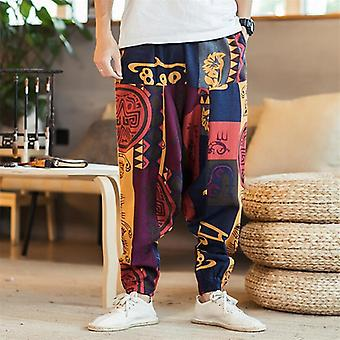 Fashion Bohemia Style Print Baggy Hip Hop Men Pants