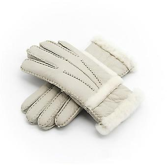 100% Sheepskin Winter Full Finger Gloves/men