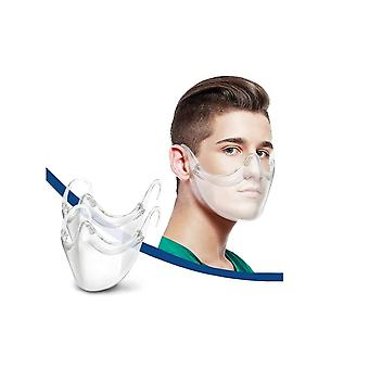 New Upgrade Transparent Face Mask Protection Durable Combine Upgraded Breathable Plastic Clear Face Covering