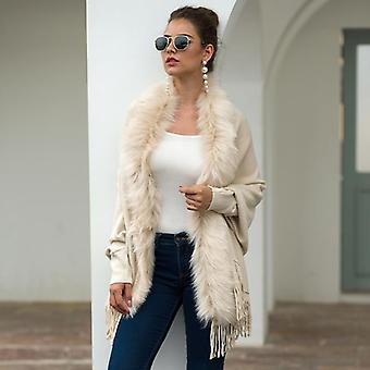 Autumn, Winter Cape Shawl, Wool Collar, Pure Cardigan Sweater