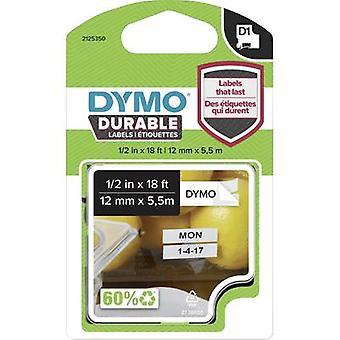 Märkning tape DYMO D1 1978364 Vinyl Tape färg: vit teckensnitt färg: svart 12 mm 5,5 m
