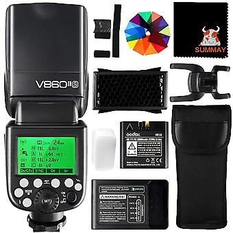 Godox v860ii-s ttl camera flash 2.4g 1/8000s hss gn60 with lithium battery external flash speedlight