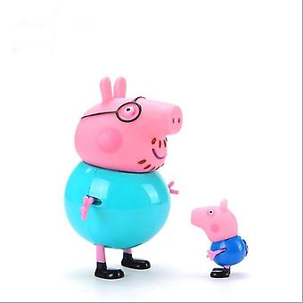 Peppa Pig George Guinea Pig Family Pack Dad Mom Action Figure Original Pelucia