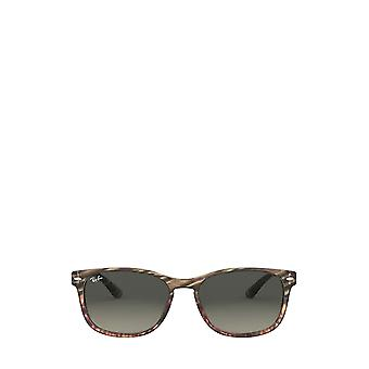 Ray-Ban RB2184 grey gradient brown striped unisex sunglasses