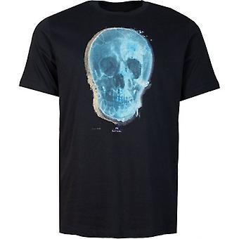 Paul Smith blau Schädel Print kurzärmelige T-Shirt