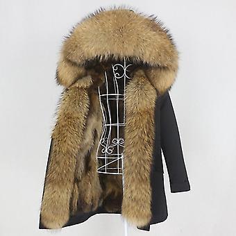 Long Parka Real Fox Fur Coat