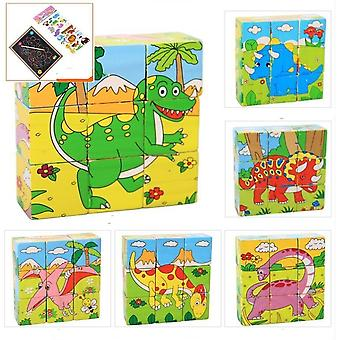 1pc Nine Blocks Six-sided 3d Jigsaw Cubes Puzzle