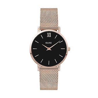 Cluse Unisex Minuit Rose Gold Circle Quartz Fashion Watch CW0101203003