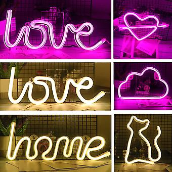 Luova Led Neon Light Sign Love Heart Hääjuhla Sisustus Neon Lamppu