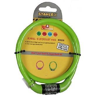 Stahlex Bicycle Lock / Wire Lock con código (Verde)