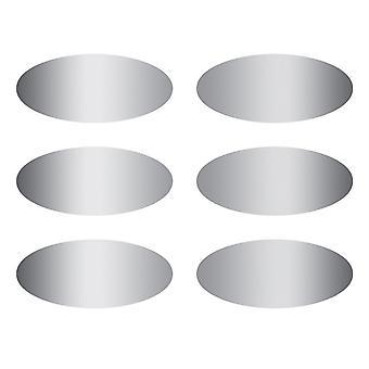 Ovals Scratch-Off Stickers