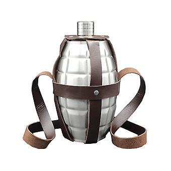 KCASA 64oz landmine 3 KG 304 rustfritt stål hip kolbe metall alkoholflasker lær hylster kolbe