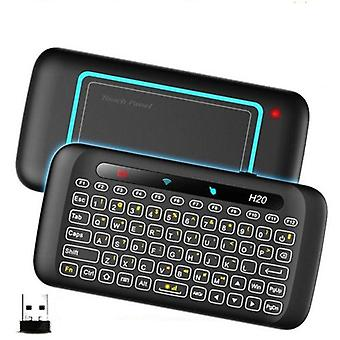 H20- Clavier intelligent sans fil, clavier tactile pour PC, smart remote control tv,
