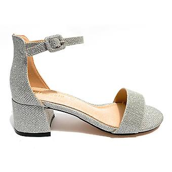 Women's Gold&gold Tc 45 In Lurex Silver Sandal - Leather Inpiede Ds20gg32