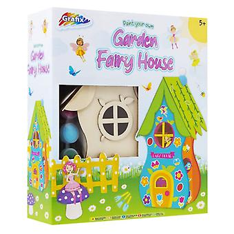 Grafix Paint Your Own Fairy Garden House Craft Kit