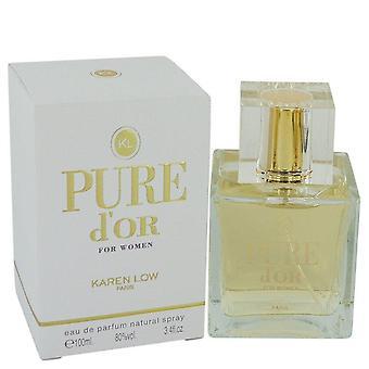 Pure D'or Eau De Parfum Spray By Karen Low 3.4 oz Eau De Parfum Spray