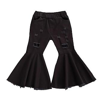 Children Denim Hole Ripped Pants Bell-bottom Pants