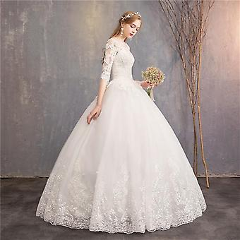 New Mrs. Win Luxury Lace Embroidery Ball Gown Wedding Dress