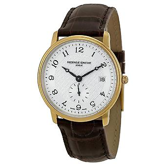Frederique Constant Slim Line Silver Guilloche Gold-Plated Men's Watch 245AS4S5
