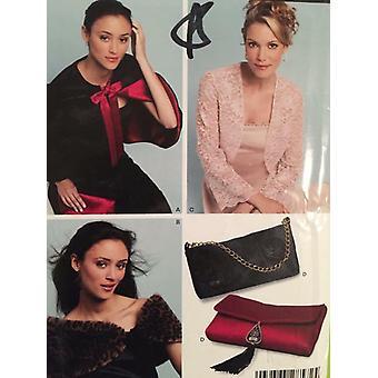 New Look Sewing Pattern 6426 Misses Capelet Wrap Purse Jacket Size XS-XL Uncut